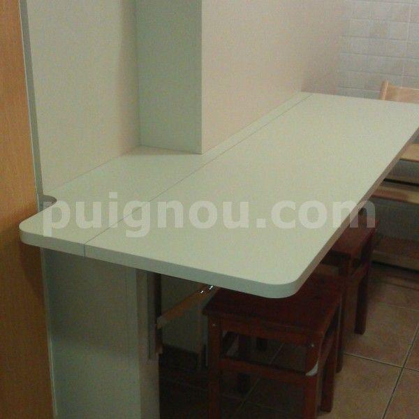 taula plegable de fusta per cuina