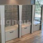 Muebles expositores de madera para tienda en Barcelona