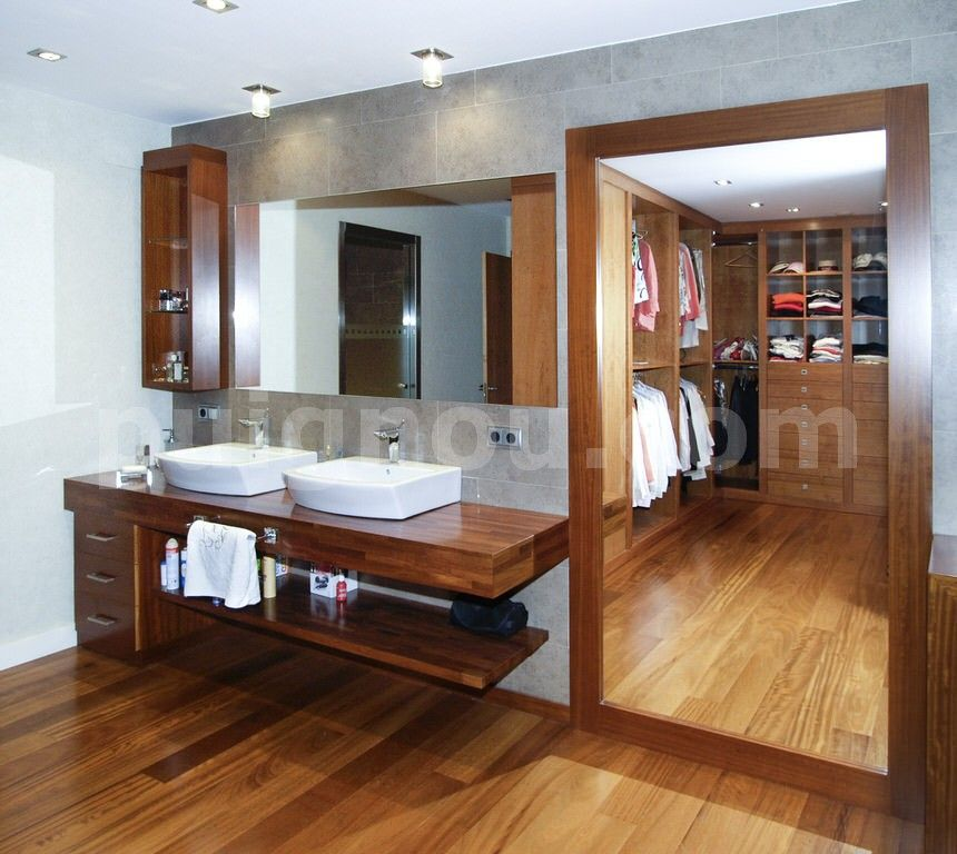 Muebles para ba o de madera - Fotos de muebles para banos ...