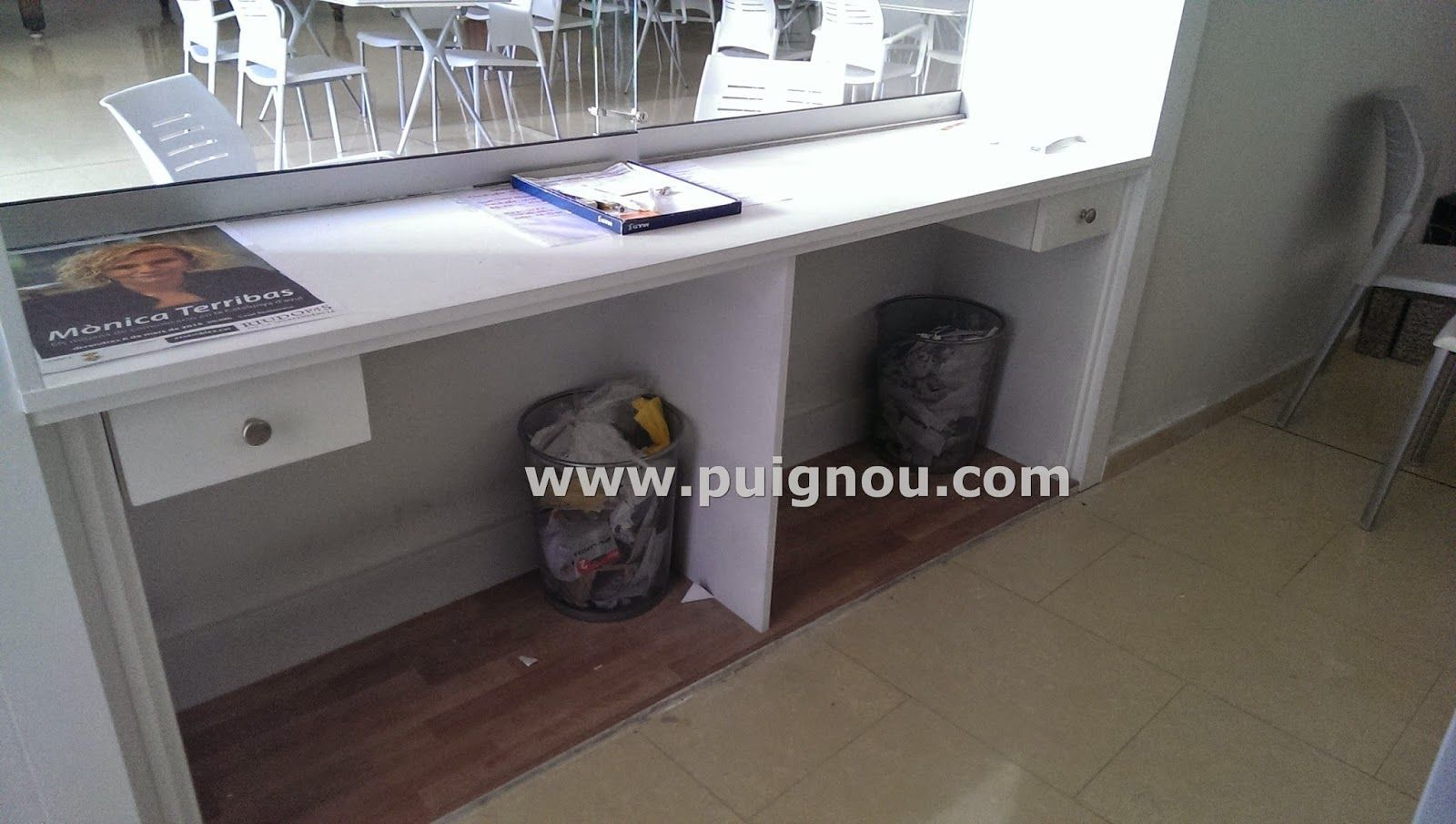 Puignou puigpelatmesa de escritorio blanca a medida for Medidas mesa escritorio