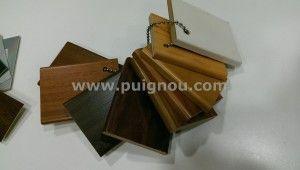 muestras madera