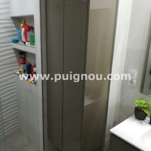 FUSTERIA PUIGNOU-Moble de bany melamina blanca lacat